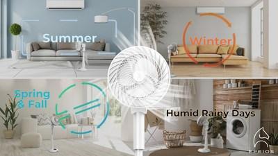 El circulador de aire EPEIOS funciona durante todo el año (PRNewsfoto/EPEIOS)